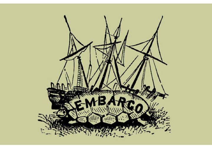 what does embargo mean in us history